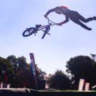 Vincent Leygonie competing at the Park Lines BMX Tournament