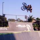 Murray Loubser competing at the Park Lines BMX Tournament