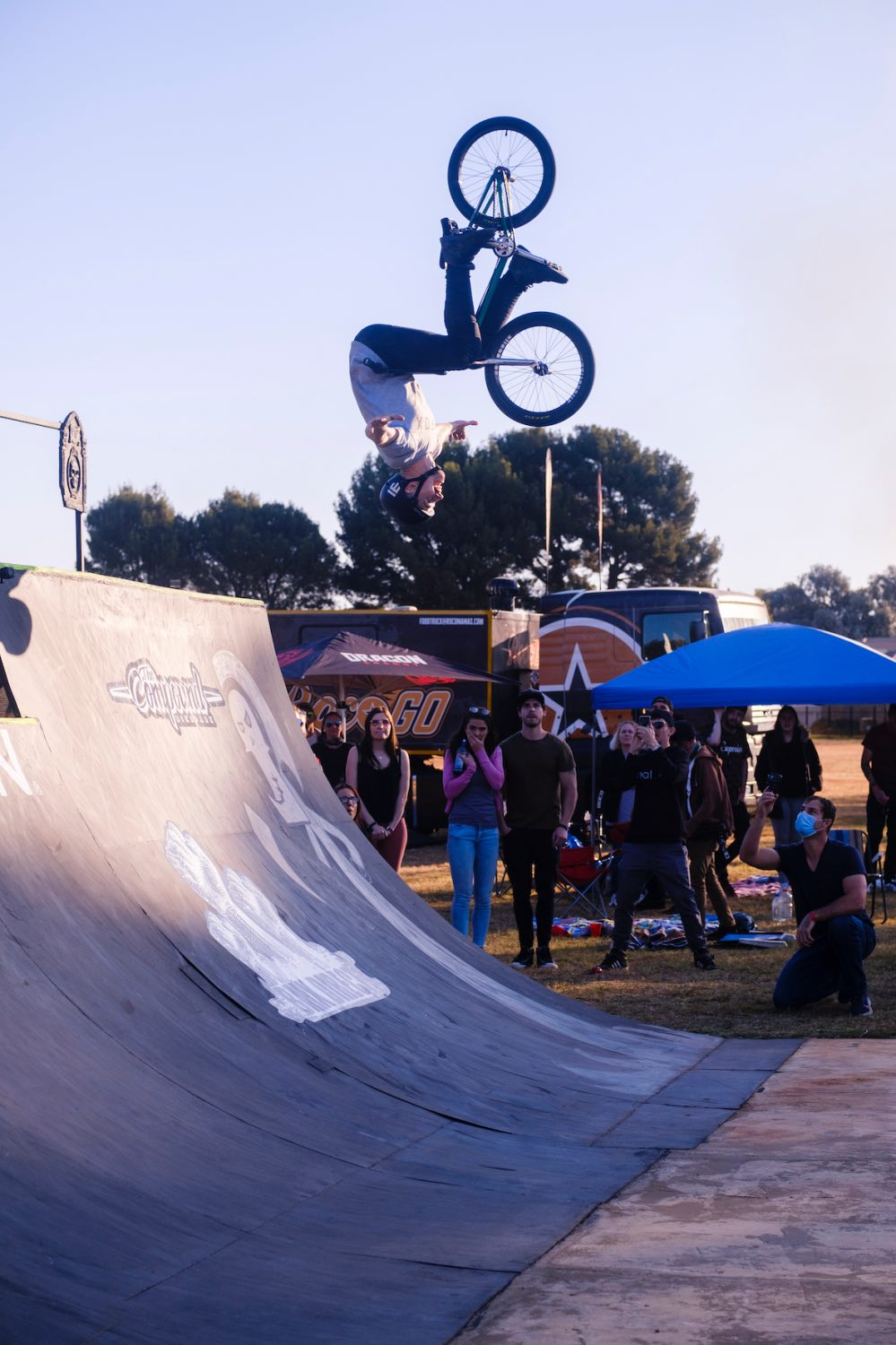 Matty Duffy Backflip Tuck No hander to Fakie attempt at Park Lines