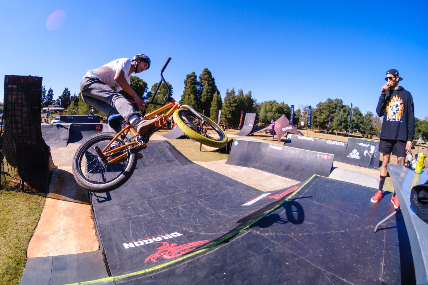 Action from the Park Lines BMX tournament