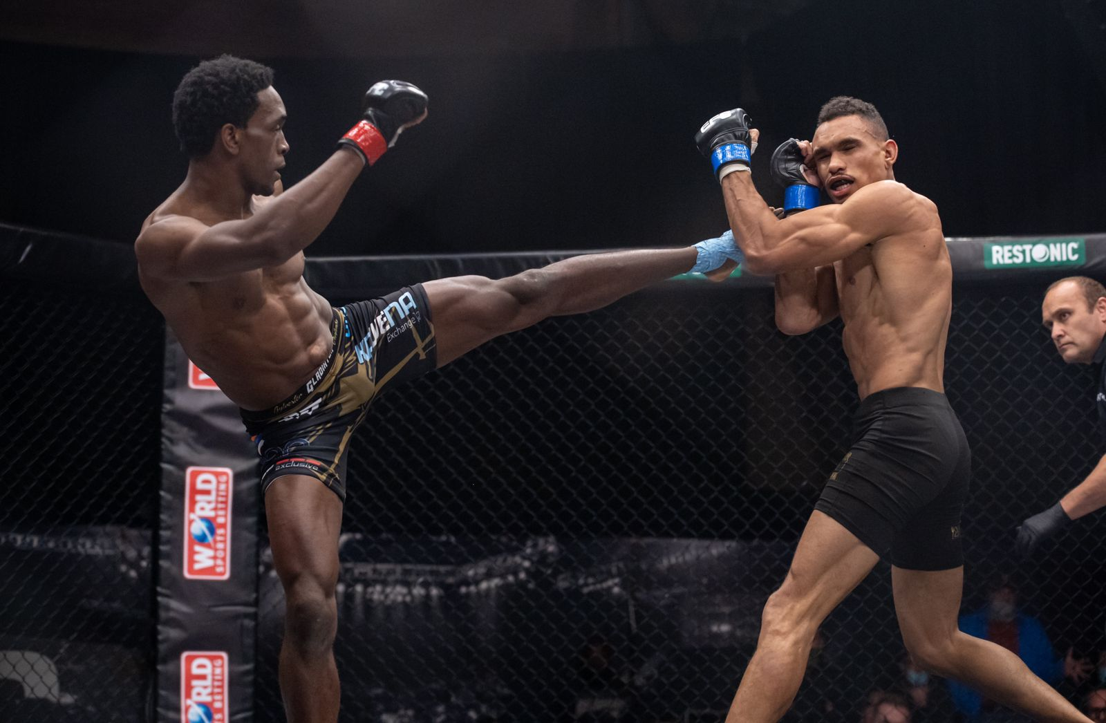 MMA Bantamweight Title Fight between Sylvester Chipfumbu and Faeez Jacobs at EFC 85