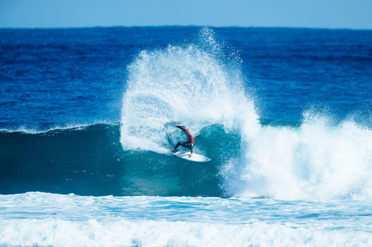 Matthew McGillivray finishes equal 3rd at the Boost Mobile Margaret River Pro surfing contest