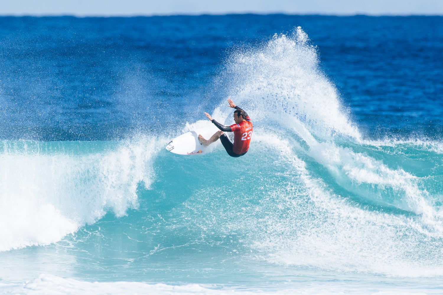 Jordy Smith finished 2nd at the Boost Mobile Margaret River Pro surfing contest