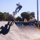 Malcolm Peters competing at the Park Lines BMX Tournament