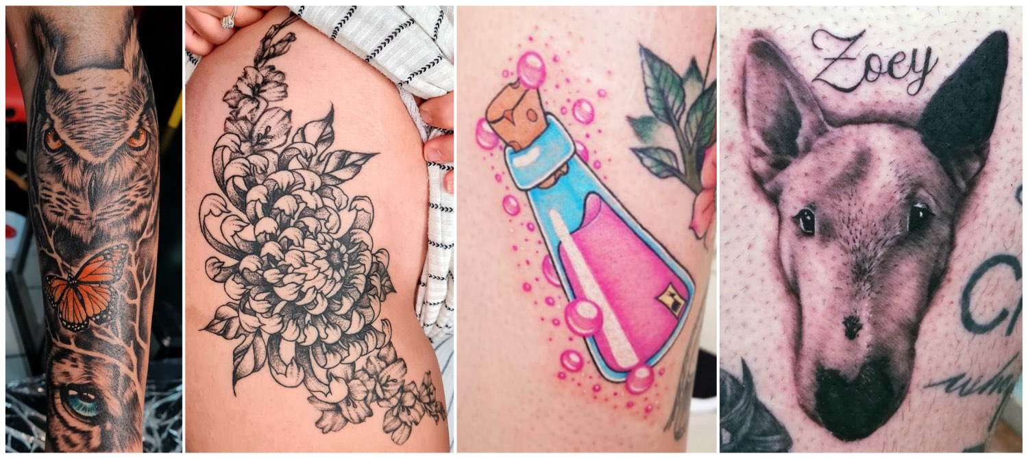 Tattoos done by Shayleigh Roelofse