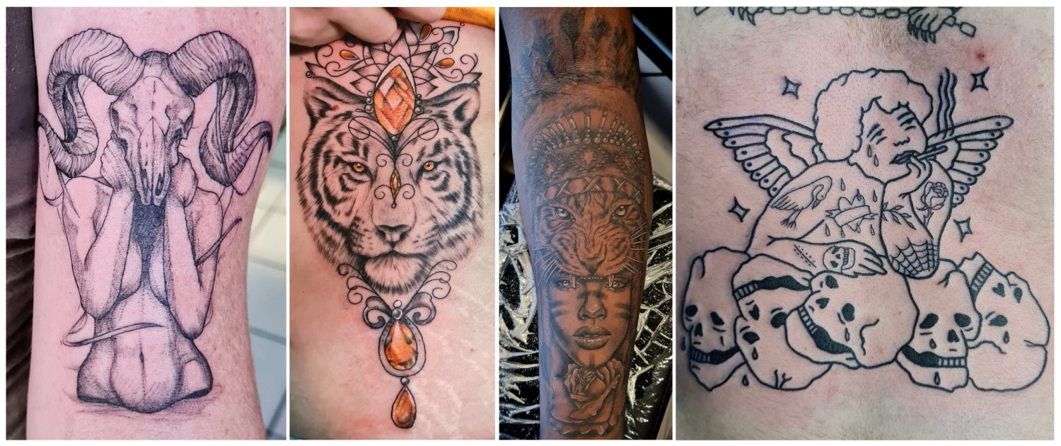 A selection of tattoos done by Shayleigh Roelofse