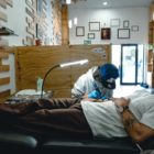 James Rype tattooing a client a The Tattoo Gallery