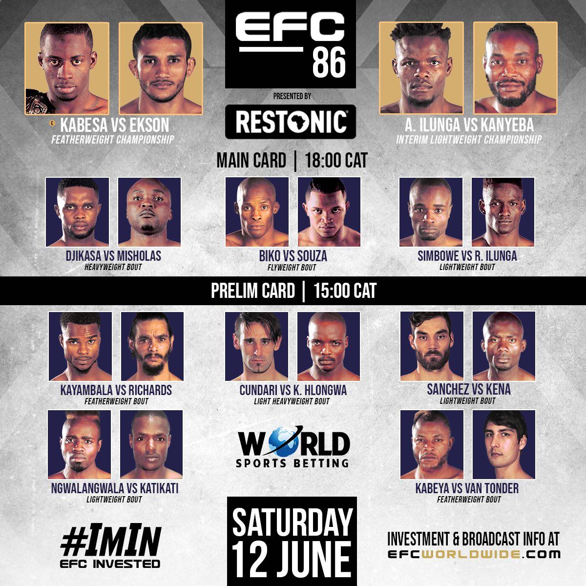EFC 86 MMA Fight Card