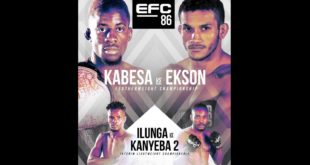 EFC 86 takes place this Saturday, 12 June, and sees Igeu Kabesa return to the MMA Hexagon to take on Reinaldo Ekson in the Featherweight Title Fight.