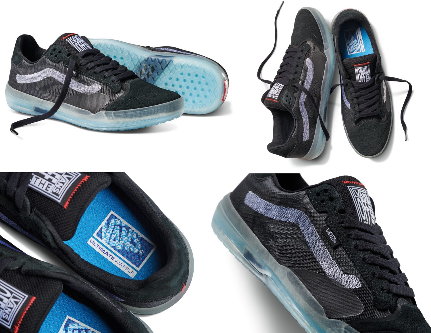 The Vans EVDNT UltimateWaffle comes in a robust color scheme in shades of grey