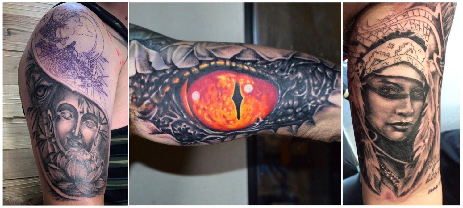 A selection of tattoos done by James Rype