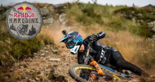 The seventh edition of the Red Bull Hardline Downhill MTB race presented riders with one of the world's toughest courses in Dyfi Valley, North Wales. Racing was hard and fast with Bernard Kerr coming out on top and winning the race for a record third time.