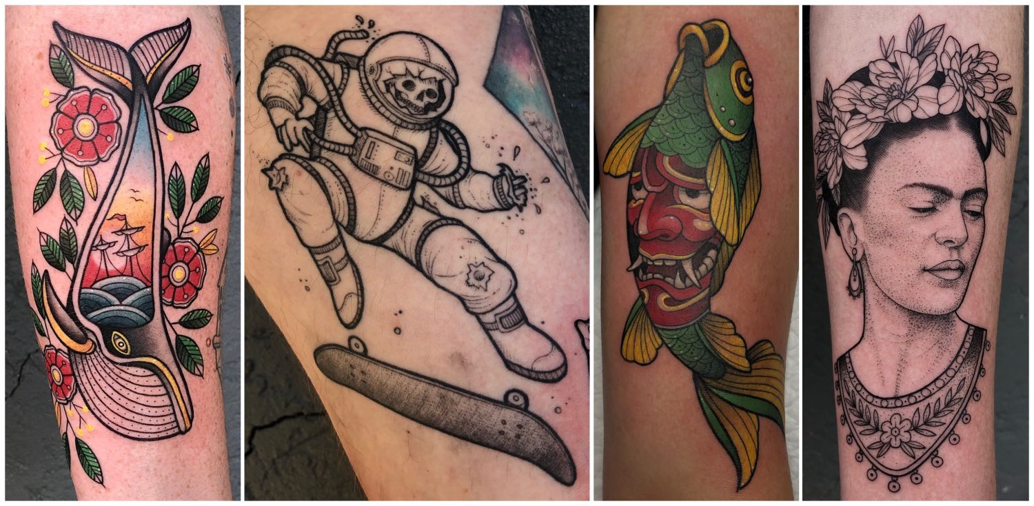 Neo Traditional Tattoos done by Charl Steyn