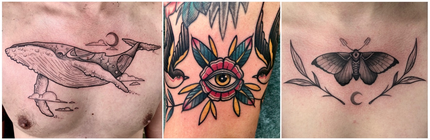 Traditional style tattoos done by Charl Steyn