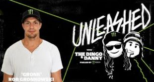 """Monster Energy presentsUnleashed with The Dingo and Danny Podcast. Tune in for a larger-than-life tenth episode featuringfour-time Super Bowl Champion Rob """"Gronk"""" Gronkowski."""