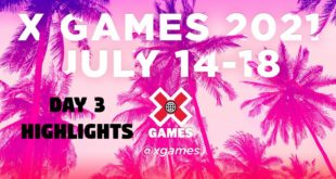 Watch Day 3 ofX Games 2021 featuringhighlights from the Men's Skateboard Park, Women's Skateboard Park, Skateboard Vert,Skateboard Vert Best Trick and BMX Street competitions.
