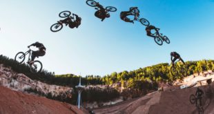 Austria's Elias Ruso has landed a world firstFrontflip Heel-Clicker and a Downhill Bike at the Audi Nines MTB event taking place in Germany. Ruso did the trick on the biggest jump at the venue, the Big Air jump, featuring a 5 metre tall kicker and a 12 metre gap.