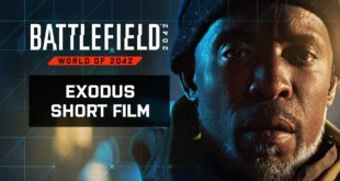 """Starting 22 October 2021, play Battlefield 2042.Kimble """"Irish"""" Graves returns, no longer a Marine, but the commander of the No-Pat vessel Exodus. Witness the events that will trigger an all-out war in this standalone short film set in the World of 2042."""