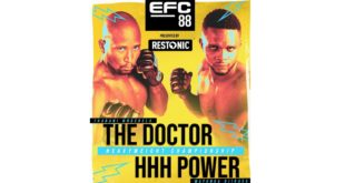 It's fight week! EFC 88 MMA action goes down this Saturday evening, 14 August, with the Heavyweight Title fight headlining the card.