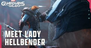 Watch the new cinematic gameplay trailers forMarvel's Guardians of the Galaxy, picking up the story with Star-Lord and the Guardians as they commence their plan to negotiate with Lady Hellbender: leader of the Hellraisers, queen of Seknarf Nine and notorious monster collector.