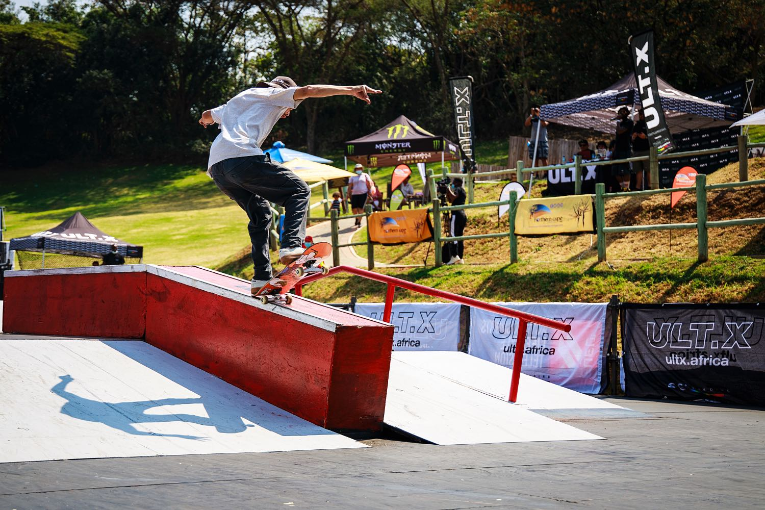 Allan Adams competing in the Skate contest at ULT.X 2021