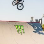 Nathi Steeze competing in the BMX contest at ULT.X 2021