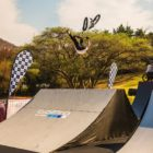 Malcolm Peters competing in the BMX contest at ULT.X 2021