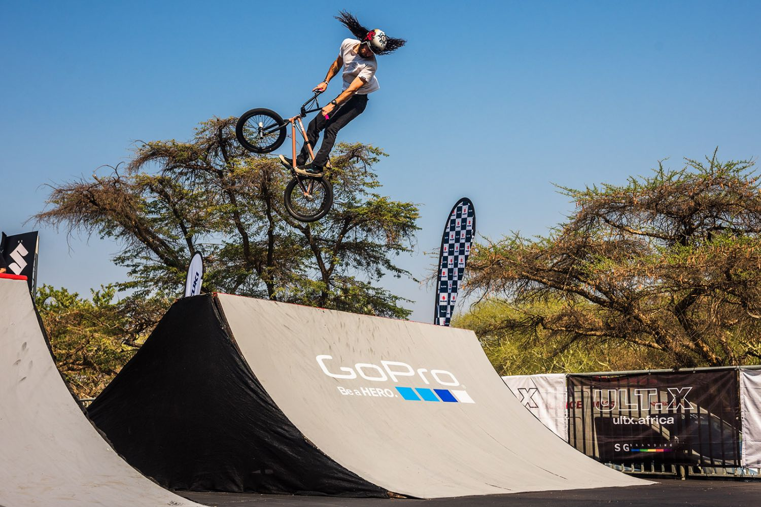 Vincent Leygonie competing in the BMX contest at ULT.X 2021