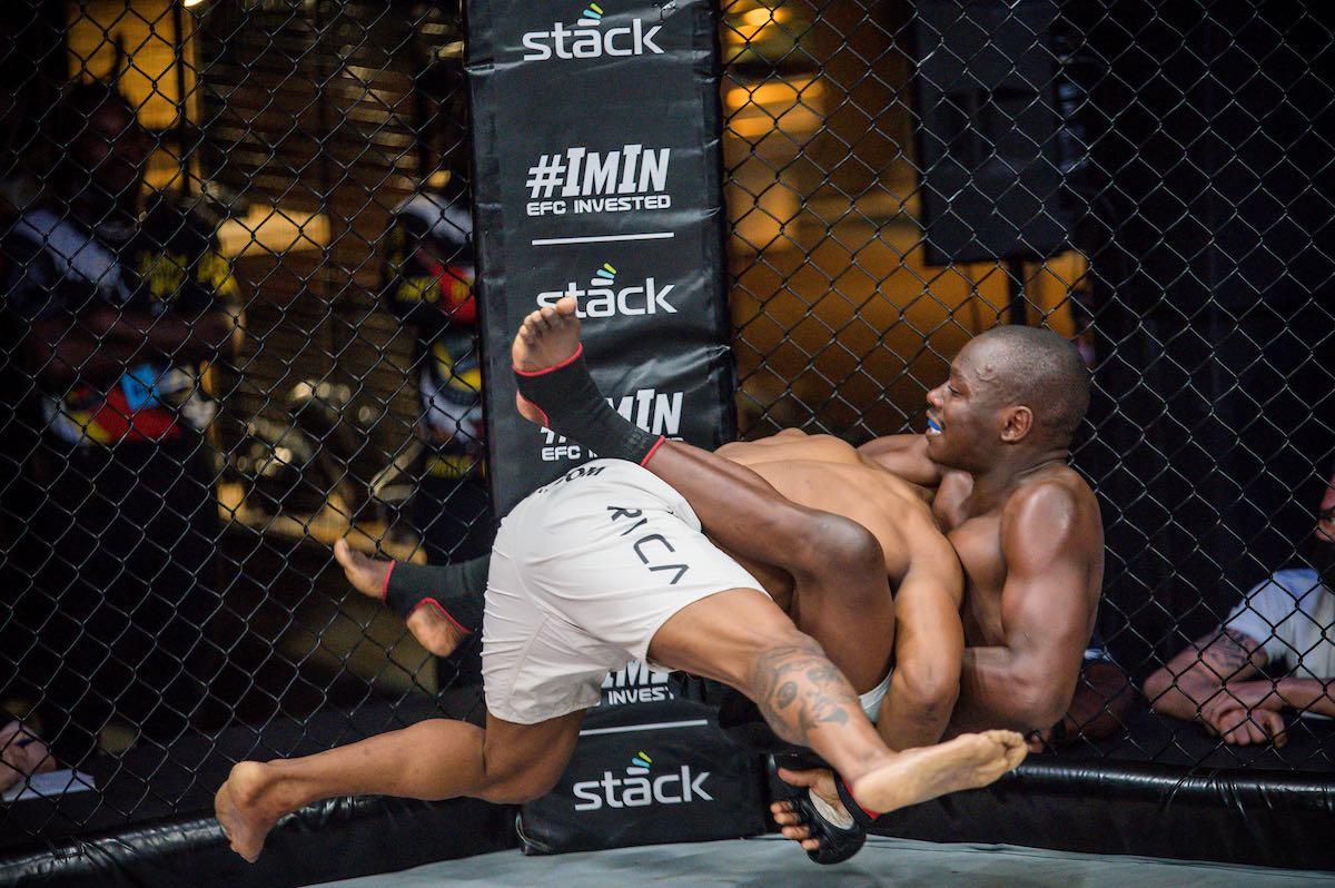 Headline MMA fight between Nkazimulo Zulu and Luthando Biko at EFC 89