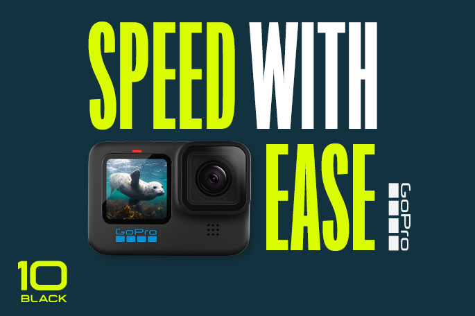 Speed with Ease using the new GoPro Here10 Black