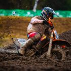Cameron Durow racing in the MX2 class at Round 4 of the 2021 South African National Motocross Championship