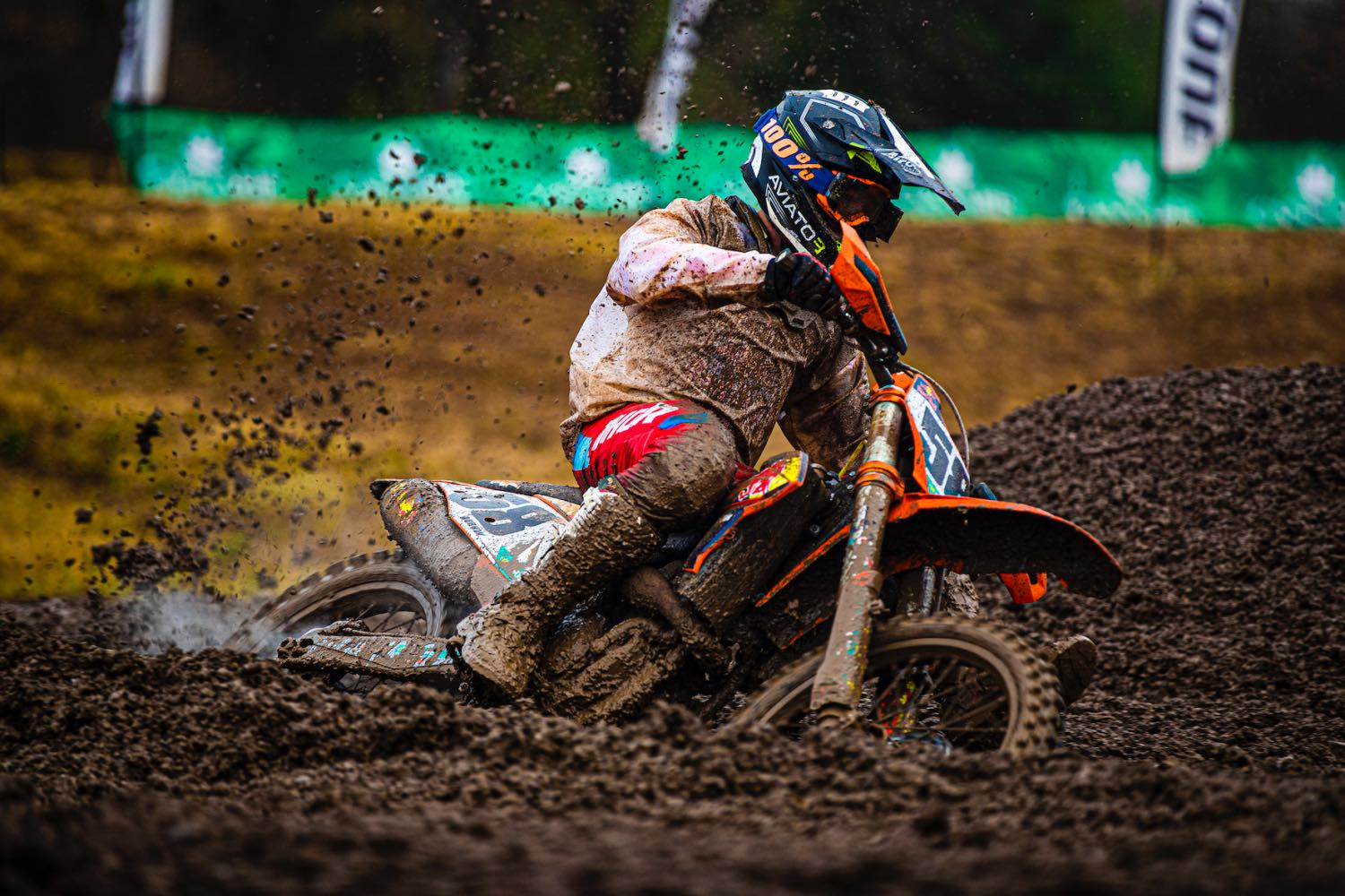 Cameron Durow racing in the MX2 class ar Round 4 of the 2021 South African National Motocross Championship