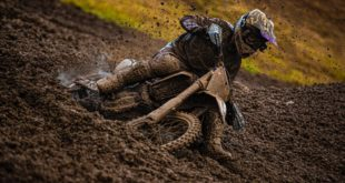 David Goosen racing in the MX1 class at Round 4 of the 2021 South African National Motocross Championship