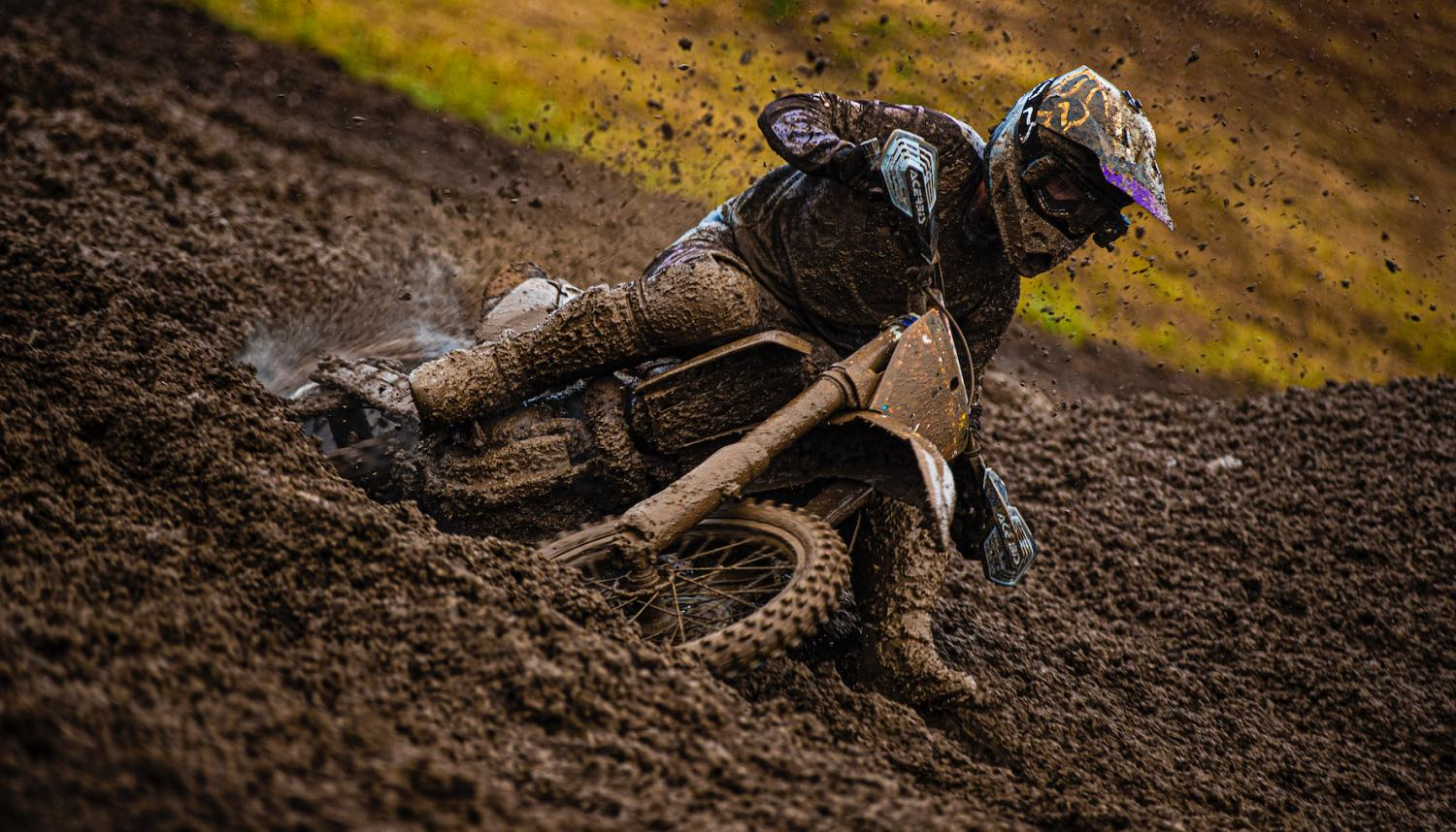 David Goosen racing in the MX1 class ar Round 4 of the 2021 South African National Motocross Championship