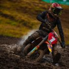 Jonathan Mlimi racing in the 125 High School class at Round 4 of the 2021 South African National Motocross Championship