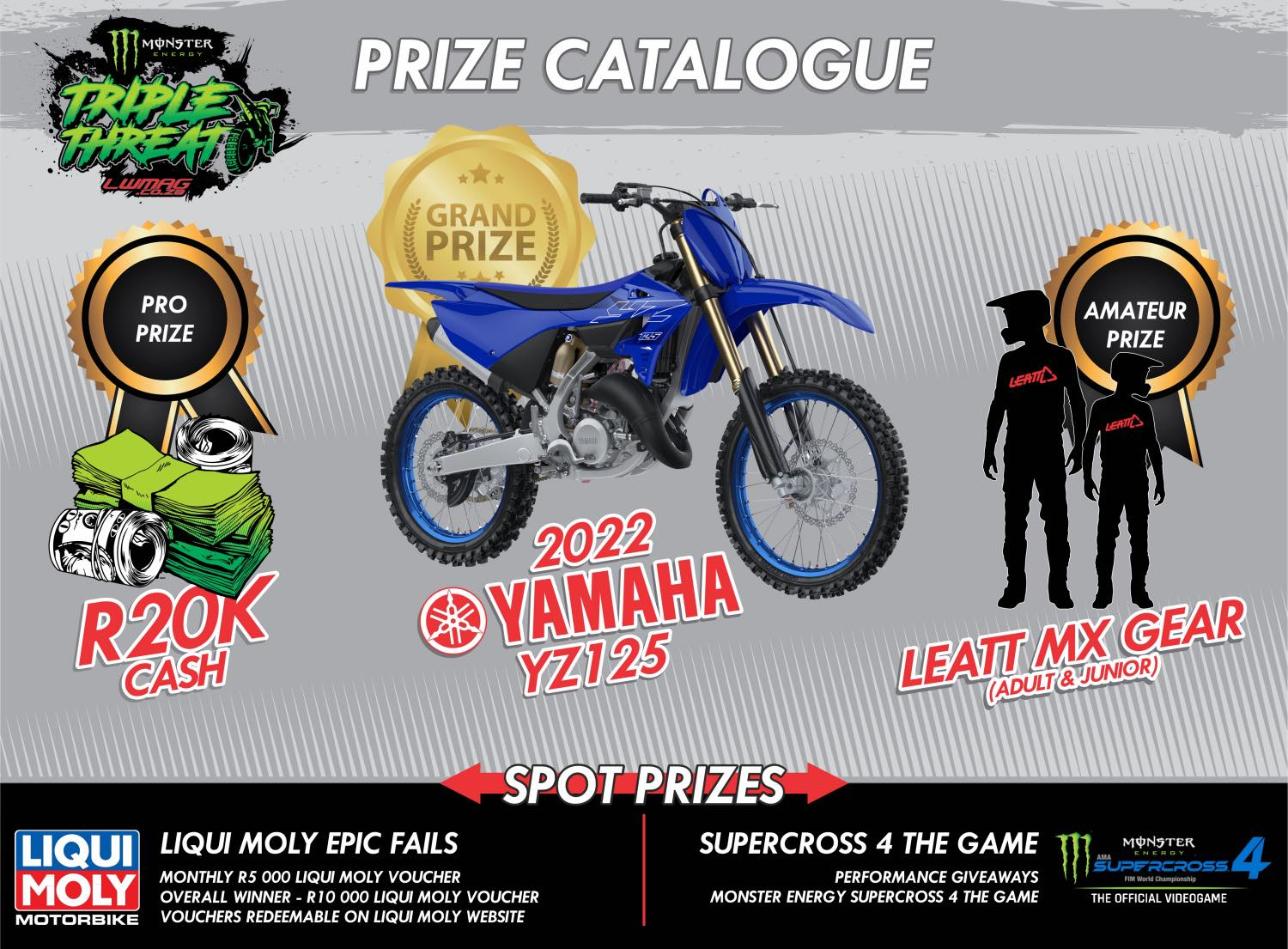 Monster Energy Triple Threat Prize Catalogue