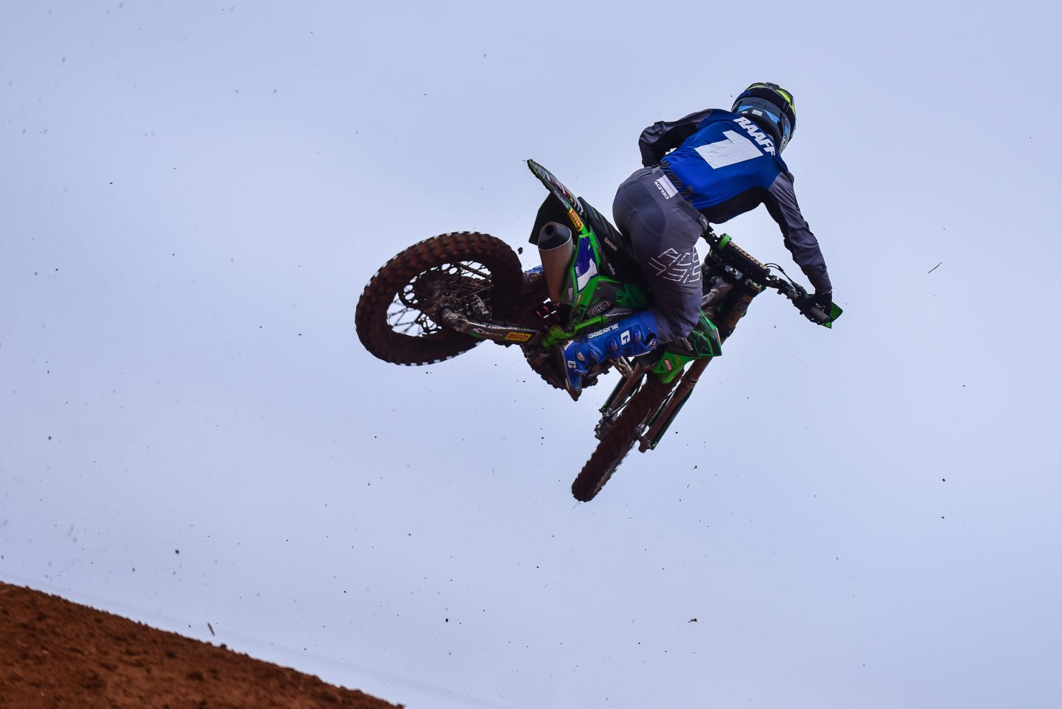 Kayla Raaff racing the fifth round of the 2021 South African National Motocross Championship