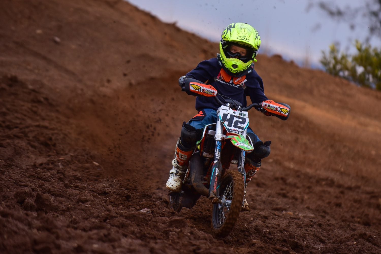 Aiden Retief racing the fifth round of the 2021 South African National Motocross Championship