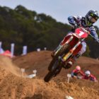 Jonathan Mlimi racing the fifth round of the 2021 South African National Motocross Championship