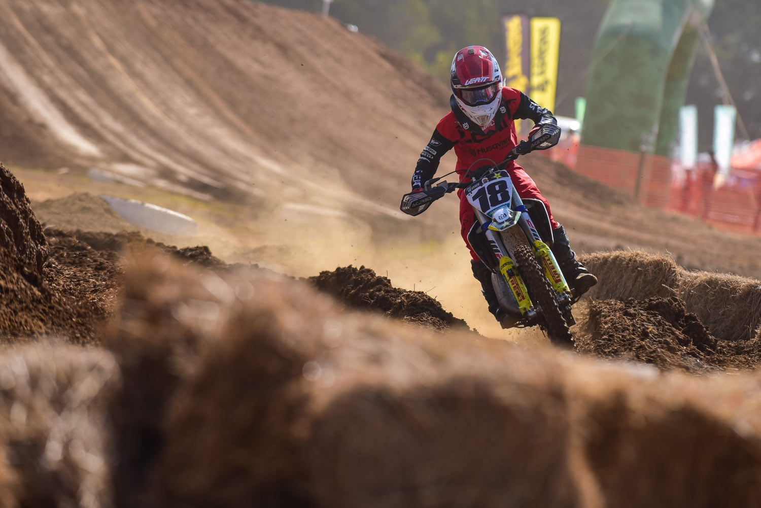 Neil van der Vyver racing the fifth round of the 2021 South African National Motocross Championship