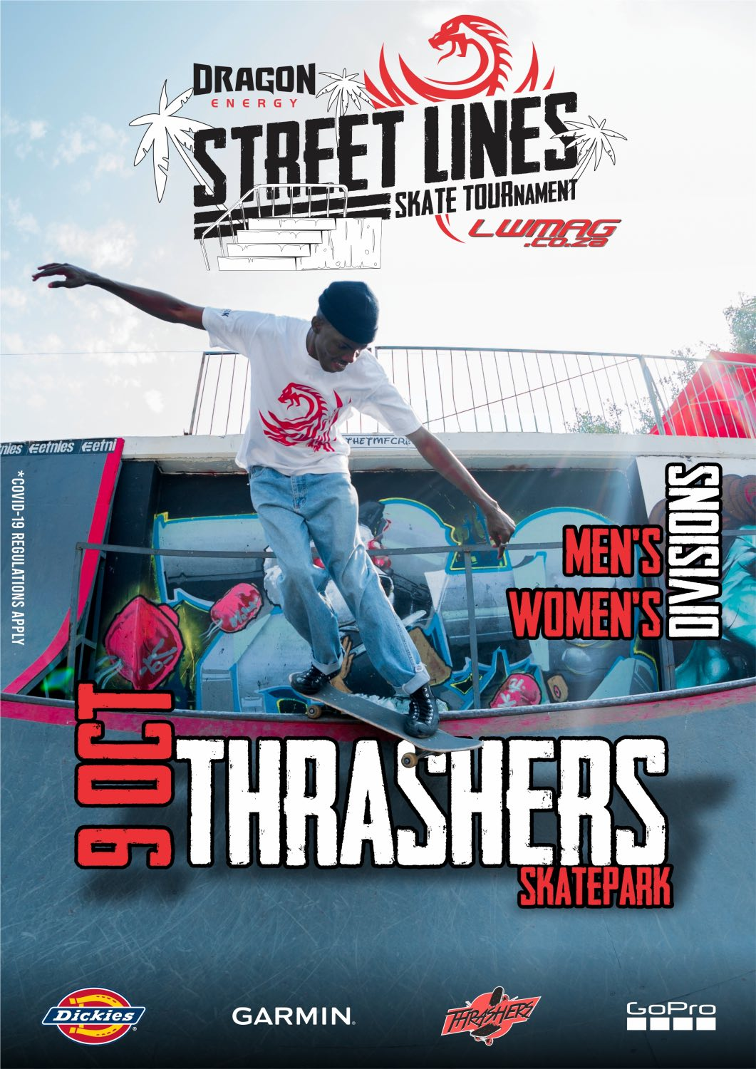 The inaugural Street Lines Skate Tournament announced taking place at Thrashers Skate Park