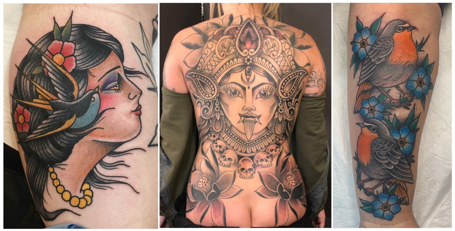 Tattoos done by Ross Hallam