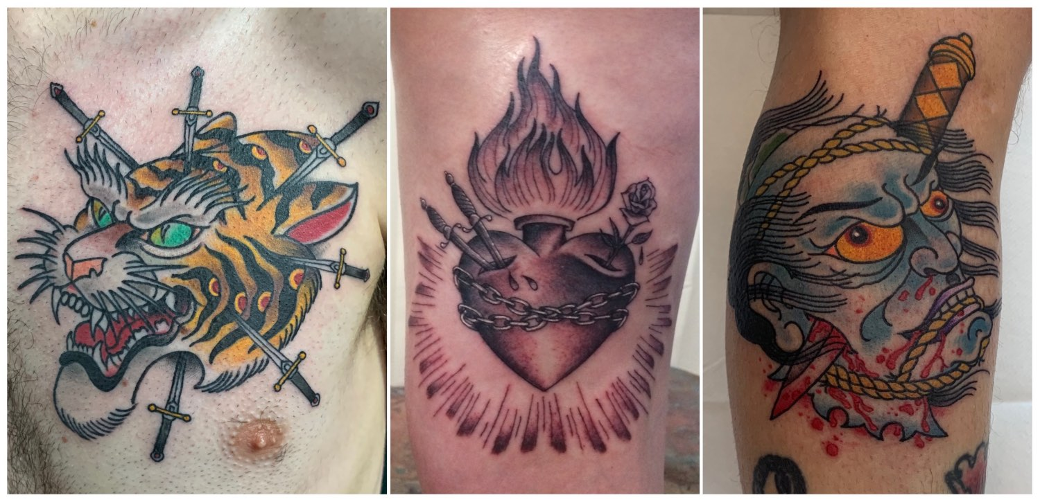 Tattoo work done by Ross Hallam