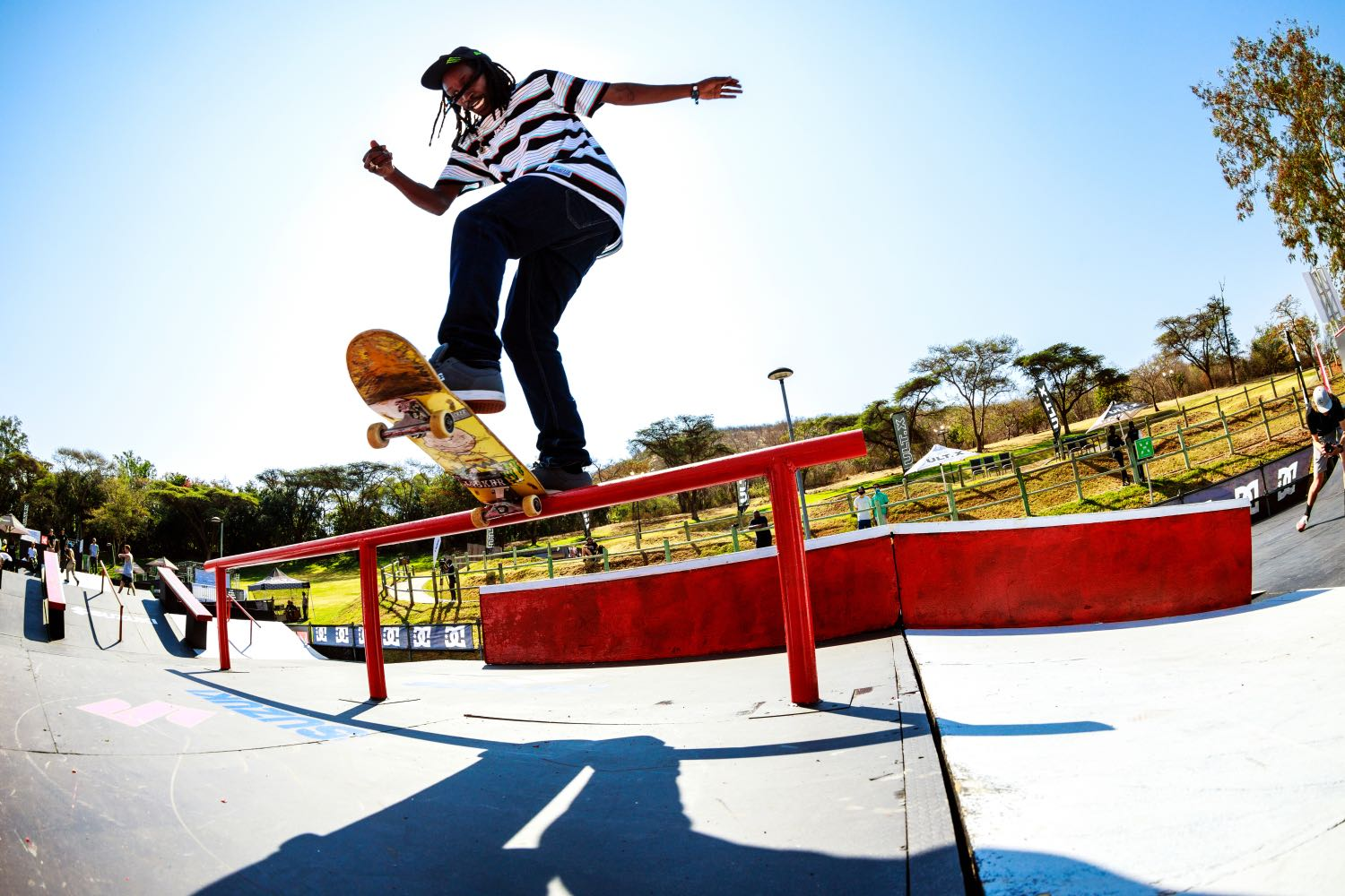 Khule Ngubane competing in the Skate contest at ULT.X 2021
