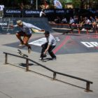 Devandre Galant competing at the Street Lines Skate Tournament