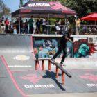 Boipelo Awuah competing at the Street Lines Skate Tournament