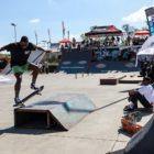 Thalente Biyela competing at the Street Lines Skate Tournament