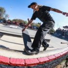 Melissa Williams competing at the Street Lines Skate Tournament