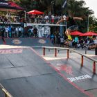 Puddy Zwennis competing at the Street Lines Skate Tournament