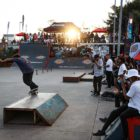 Ethan Cairns competing at the Street Lines Skate Tournament